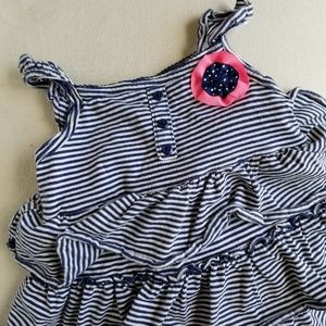 Carter's navy striped dress 24 mos